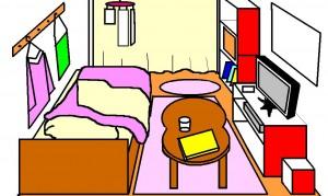 一人暮らしの部屋